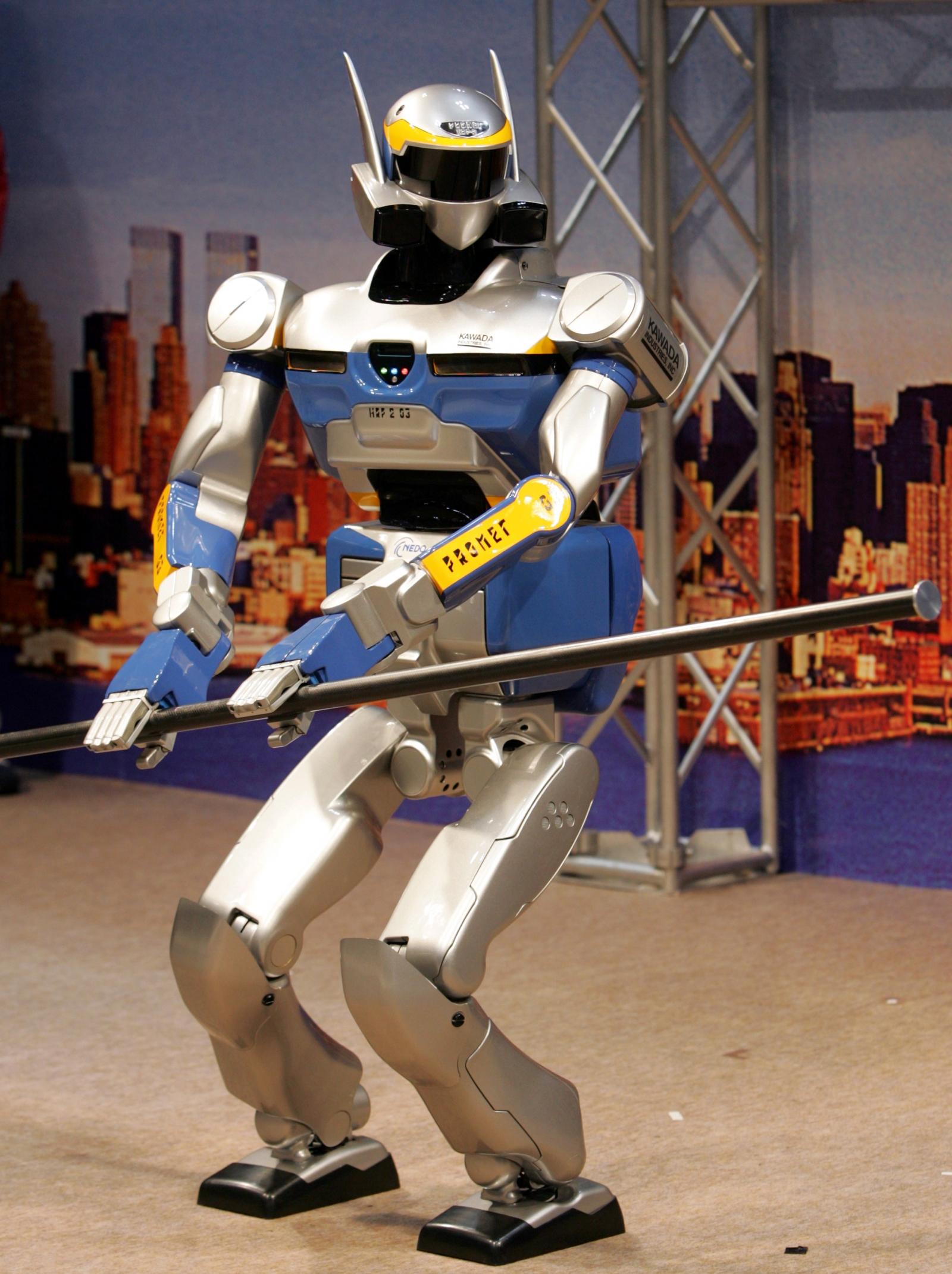 HRP-2 Promet humanoid robot by Kawada Industries