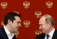 Vladimir Putin and Alexis Tsipras