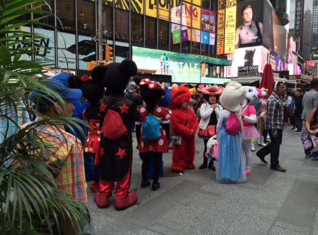 Times Square mascots