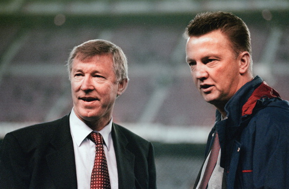 Louis van Gaal and Sir Alex Ferguson