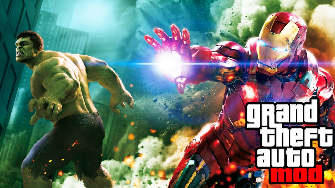 GTA 5 PC Mods: Iron Man, Hulk, Batman and Terminator Mod gameplay