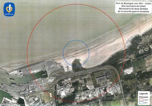 Calais bomb range