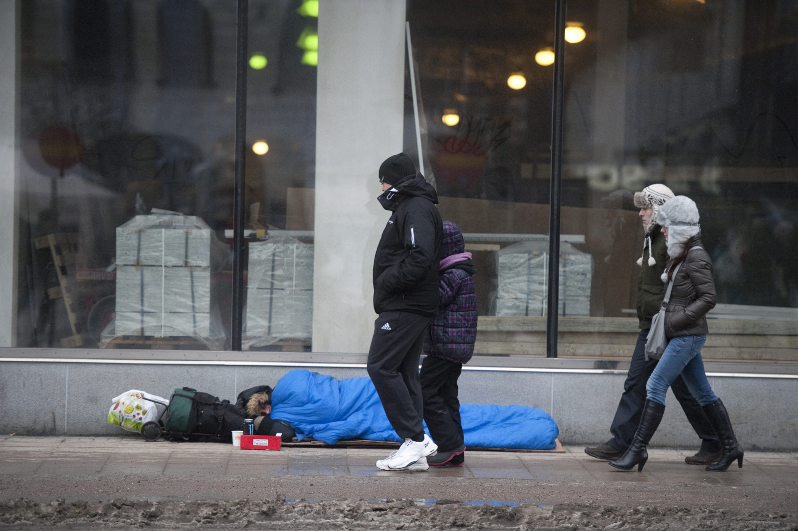 A homeless man in Stockholm