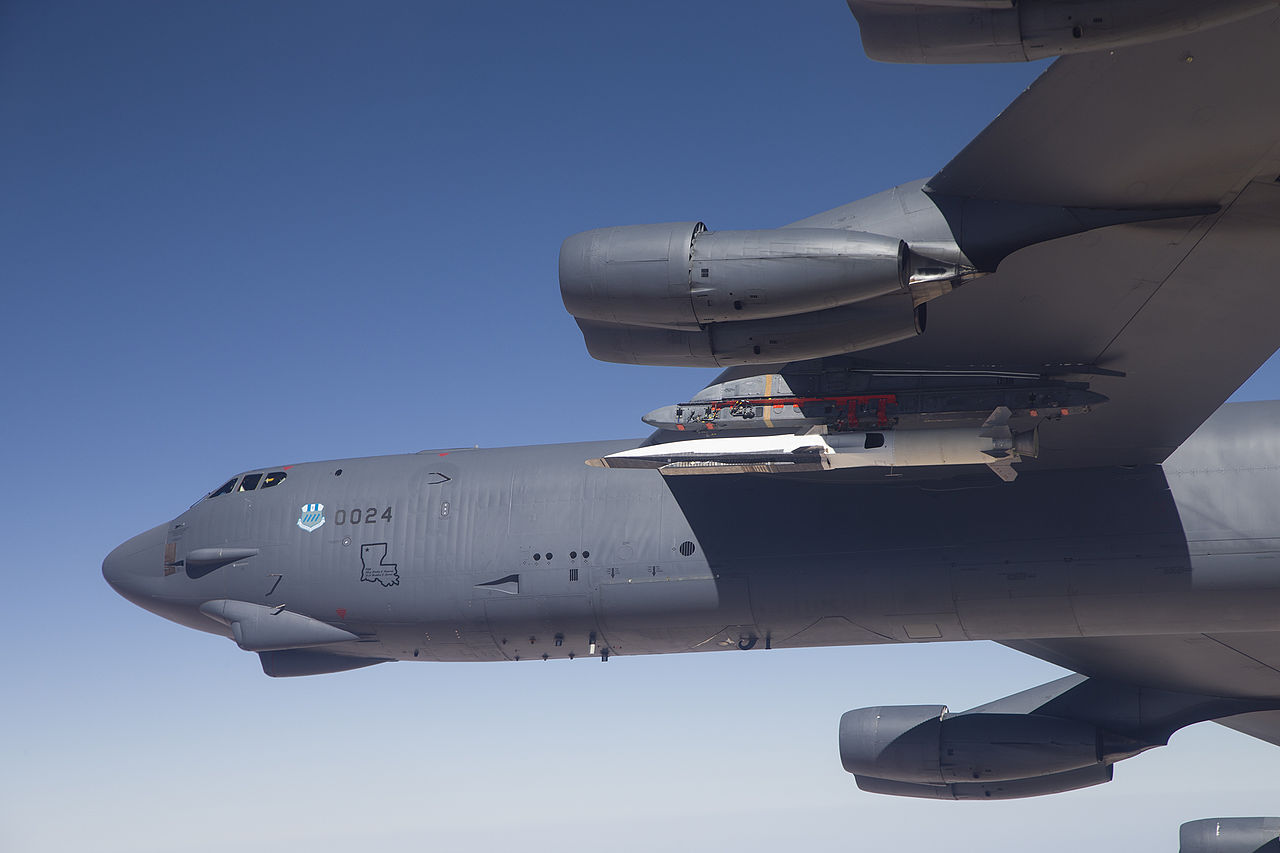 X-52 WaveRider and rocket on B-52 bomber
