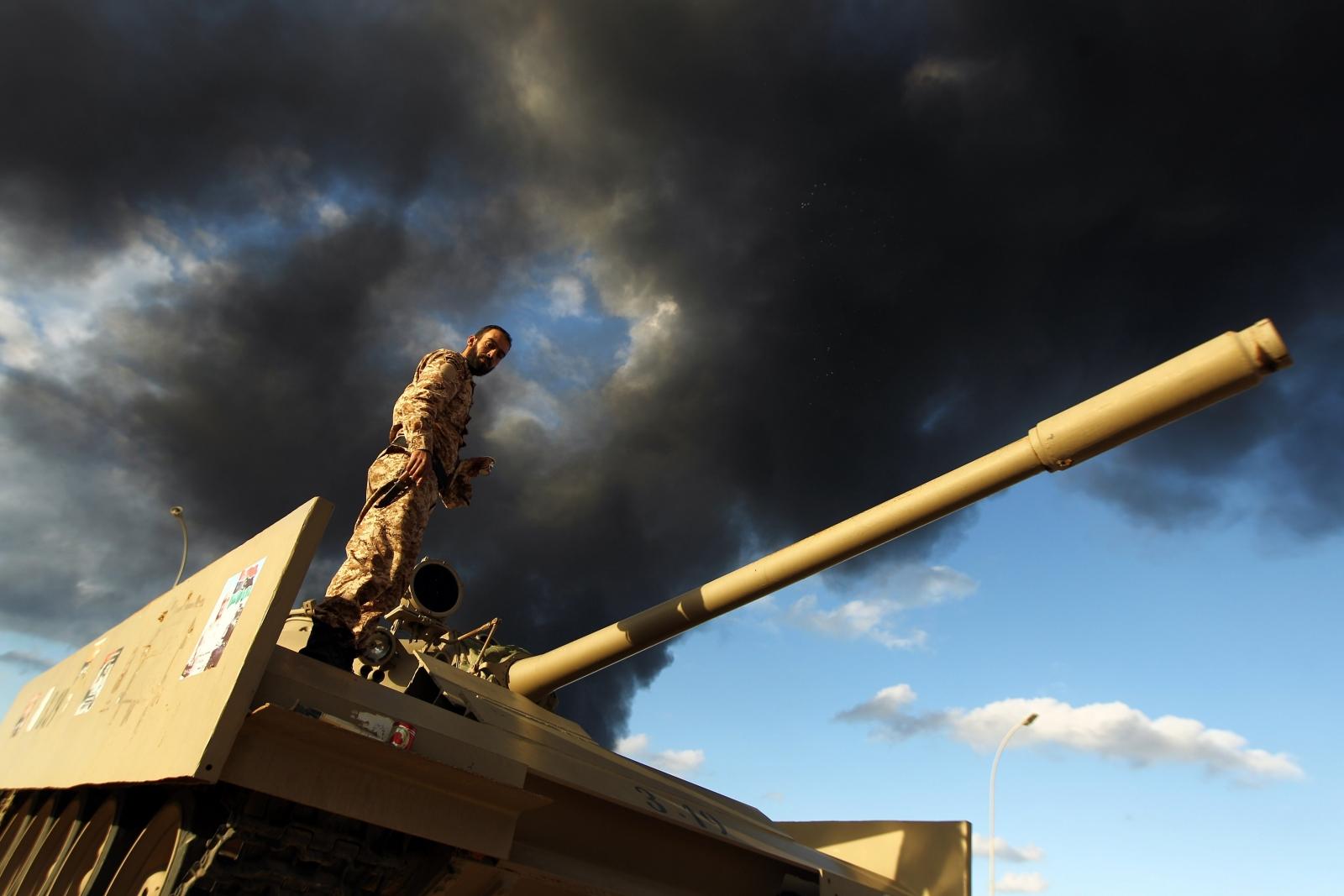 Libyan army soldier