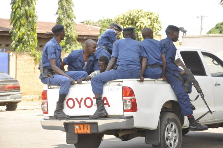 Burundi police protest arrest