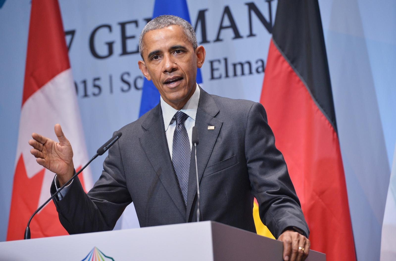 Barack Obama at the 2015 G7