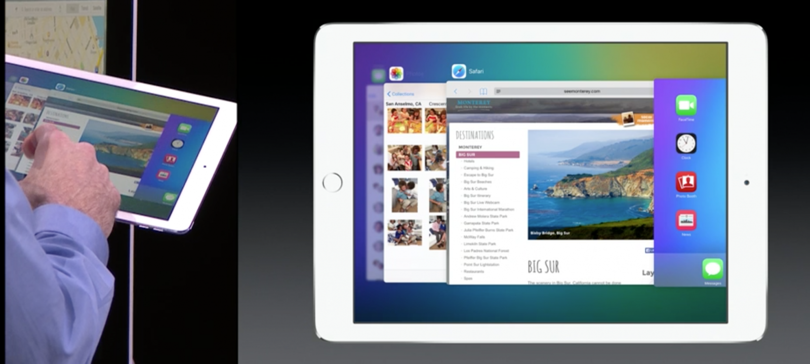 iOS 9 on iPad with app switcher