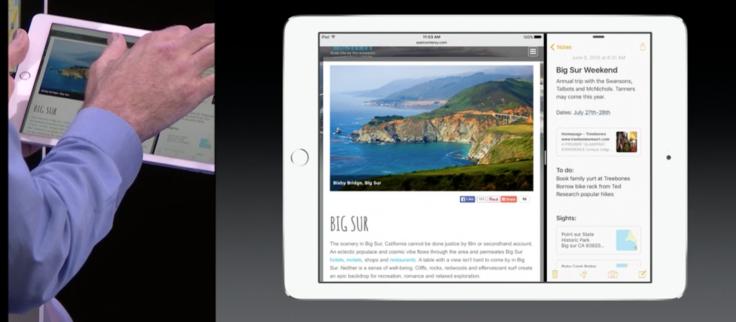 iOS 9 on iPad with multitasking