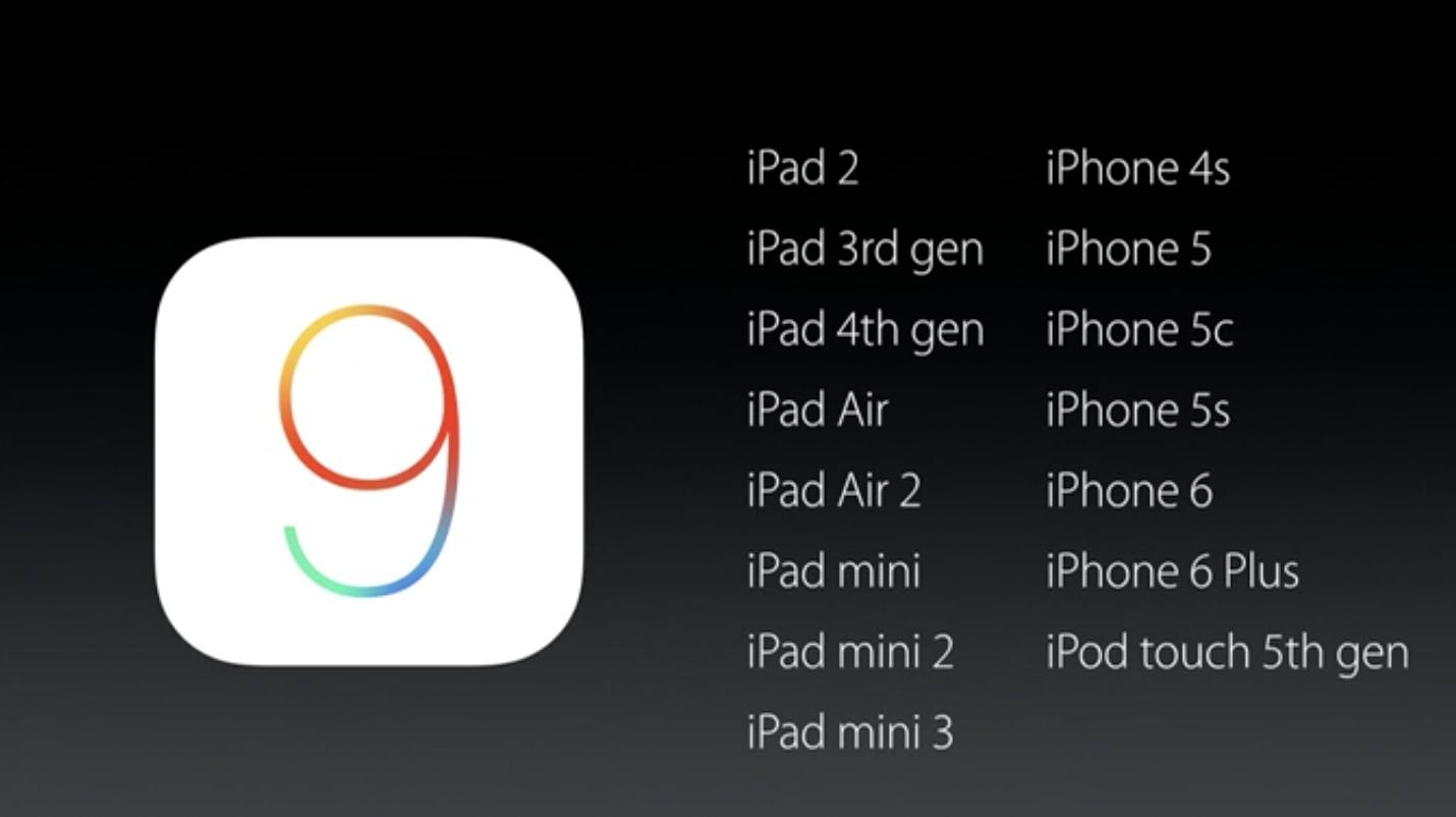 iOS 9  releases