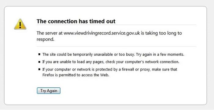 DVLA website crashes