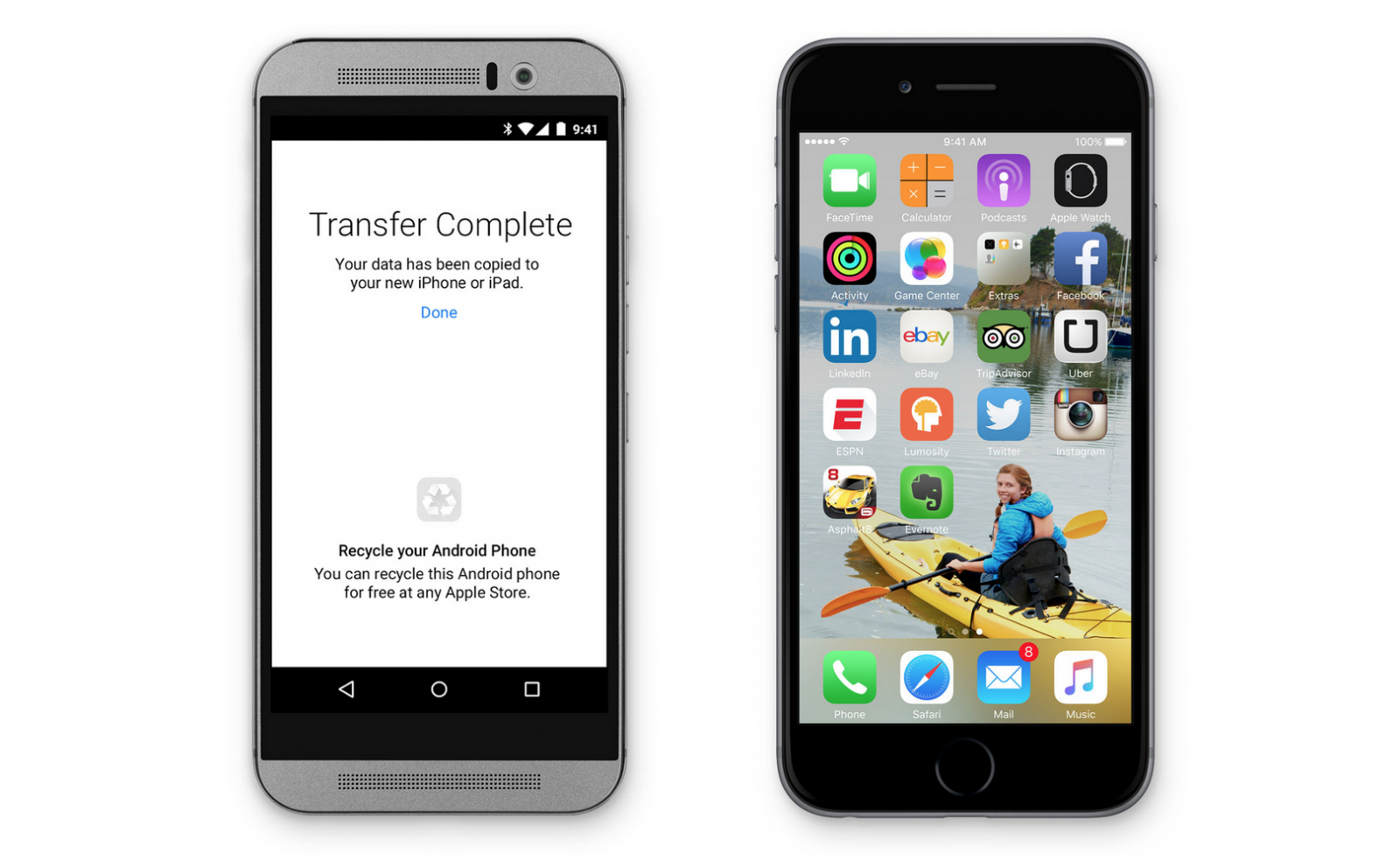 Move to iOs makes Android switching easy