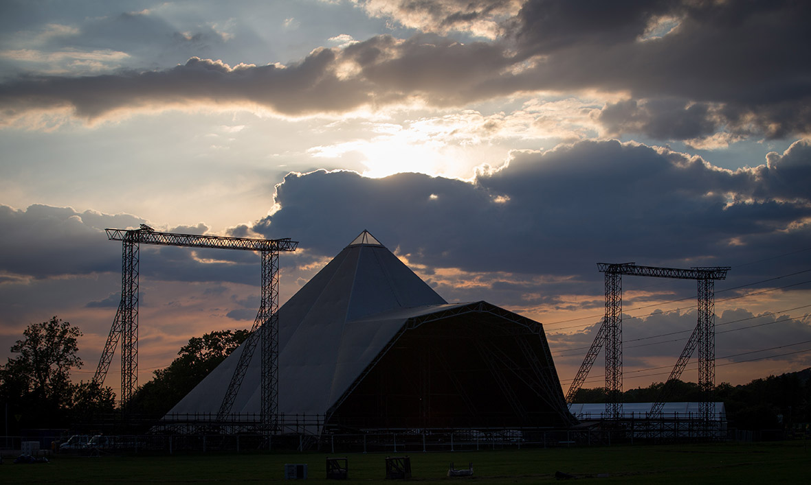 Glastonbury Festival 2015 preparations