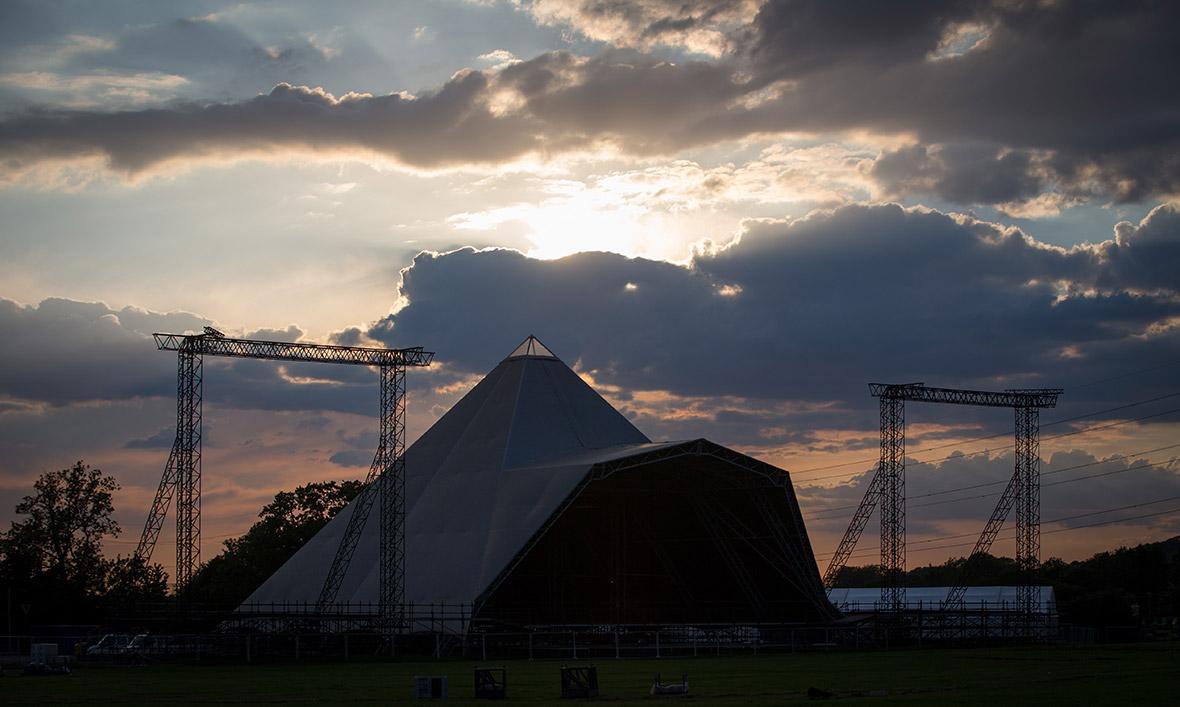 Glastonbury Festival 2015 preparations