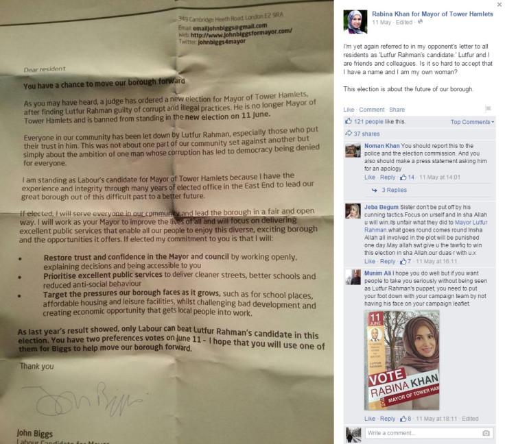 Tower Hamlets: Rabina Khan campaign tainted by Lutfur Rahman