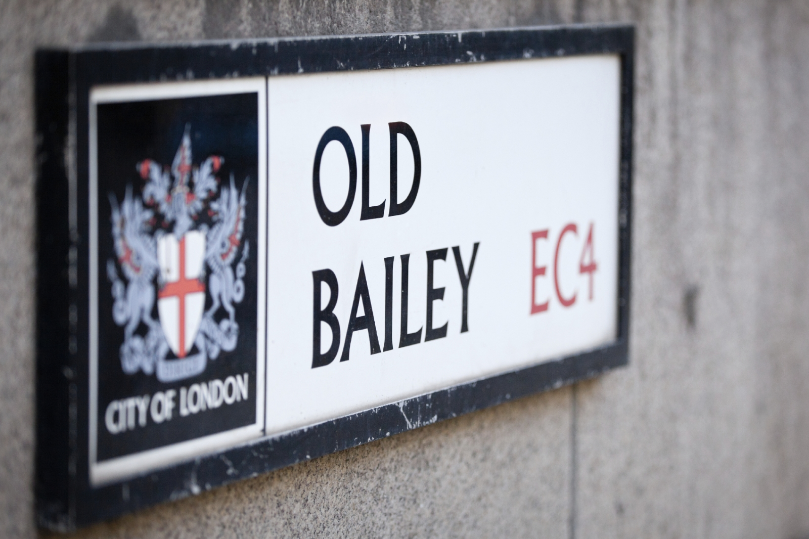 Old Bailey Sign, court law justice crime