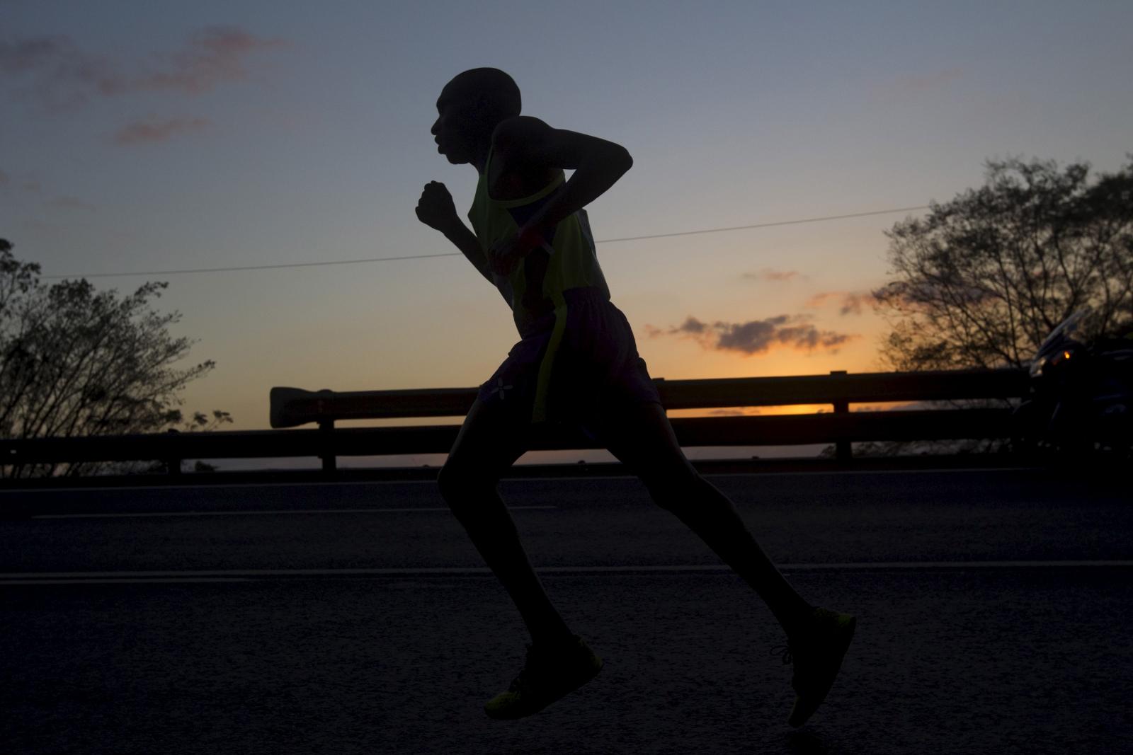 South African marathon runner