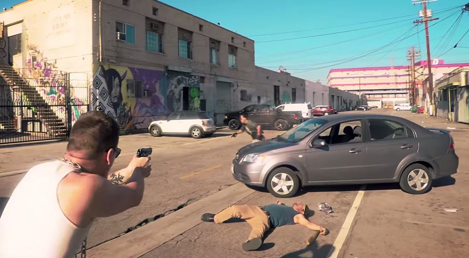 Real GTA video shoot out