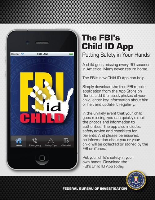 FBI Child ID Apple iPhone App