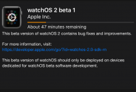 Watch OS 2 beta 1