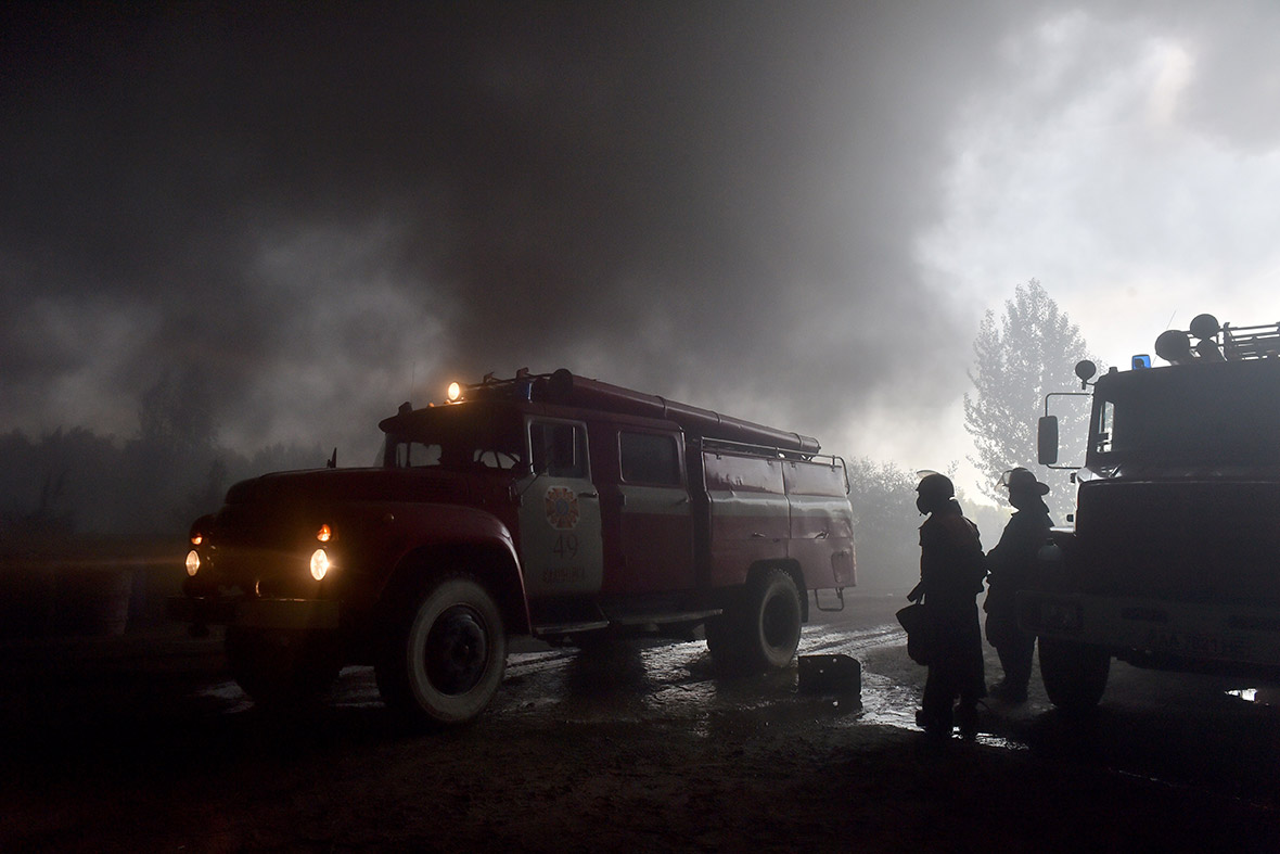 Ukraine fuel depot fire