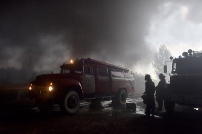 Ukraine fuel depot fire