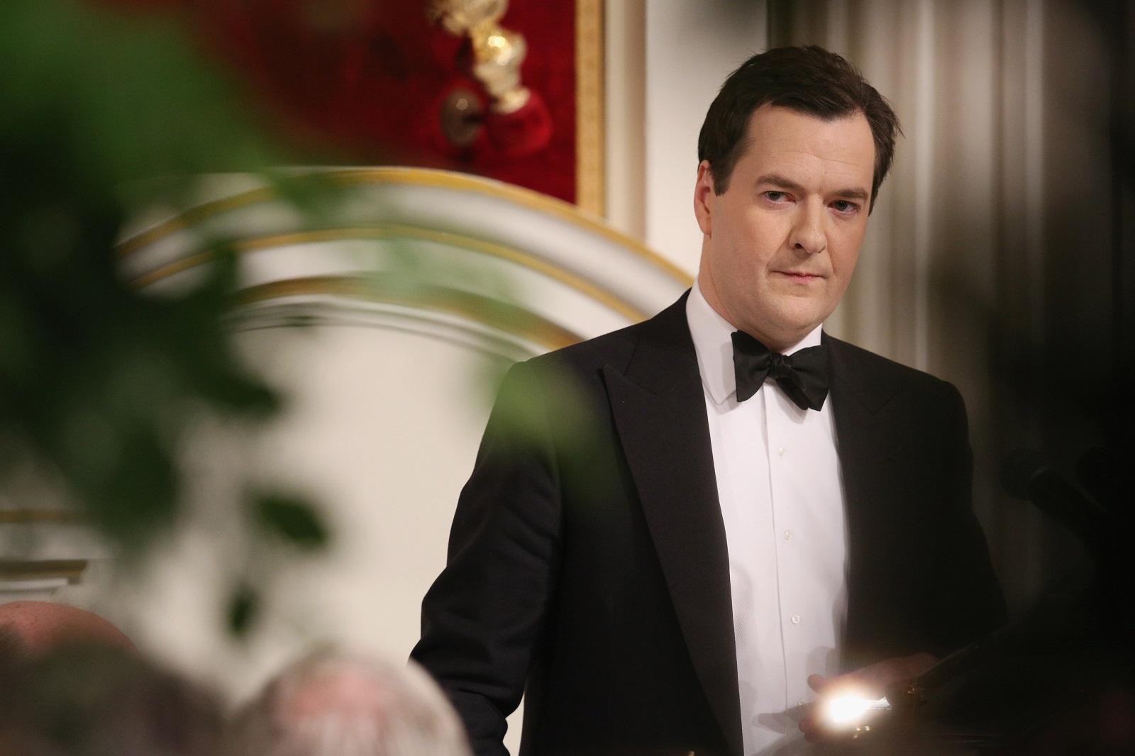 George Osborne during the Mansion House speech