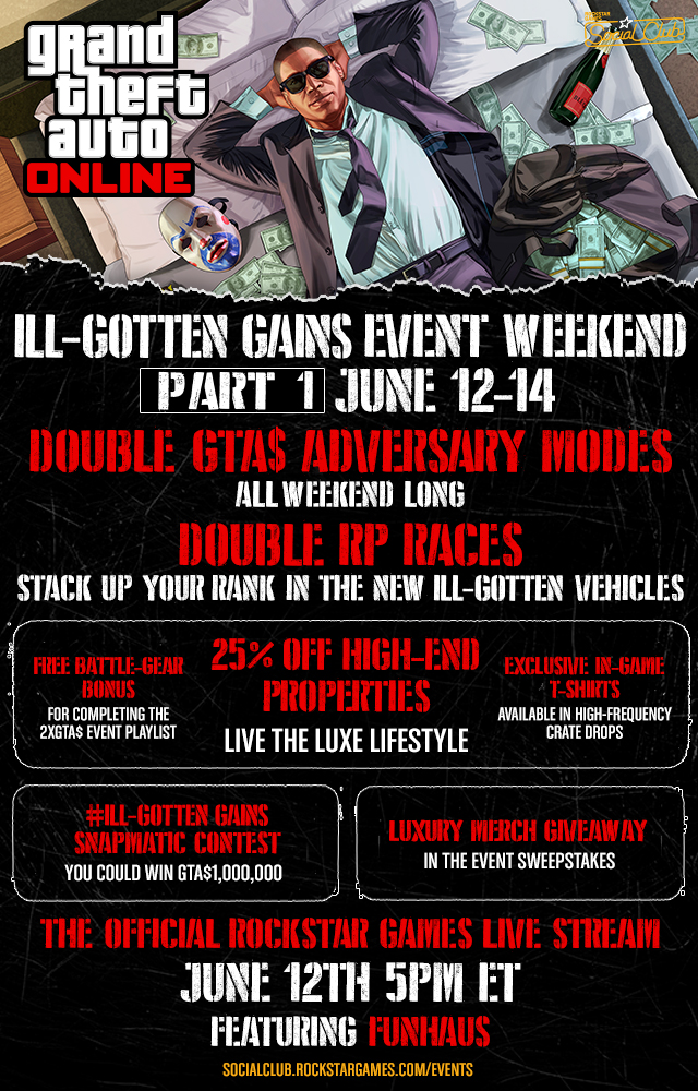 GTA 5 Online: Rockstar announces Ill-Gotten Gains Event