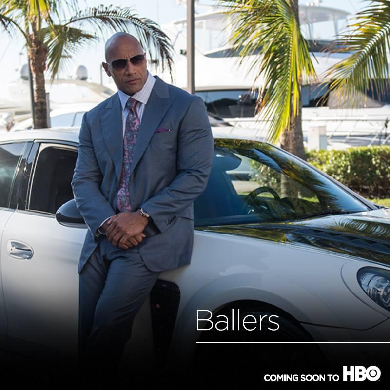Dwayne Johnson Ballers premiere