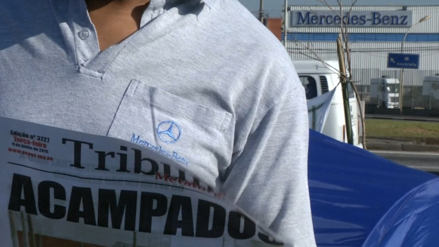 Mercedes protests