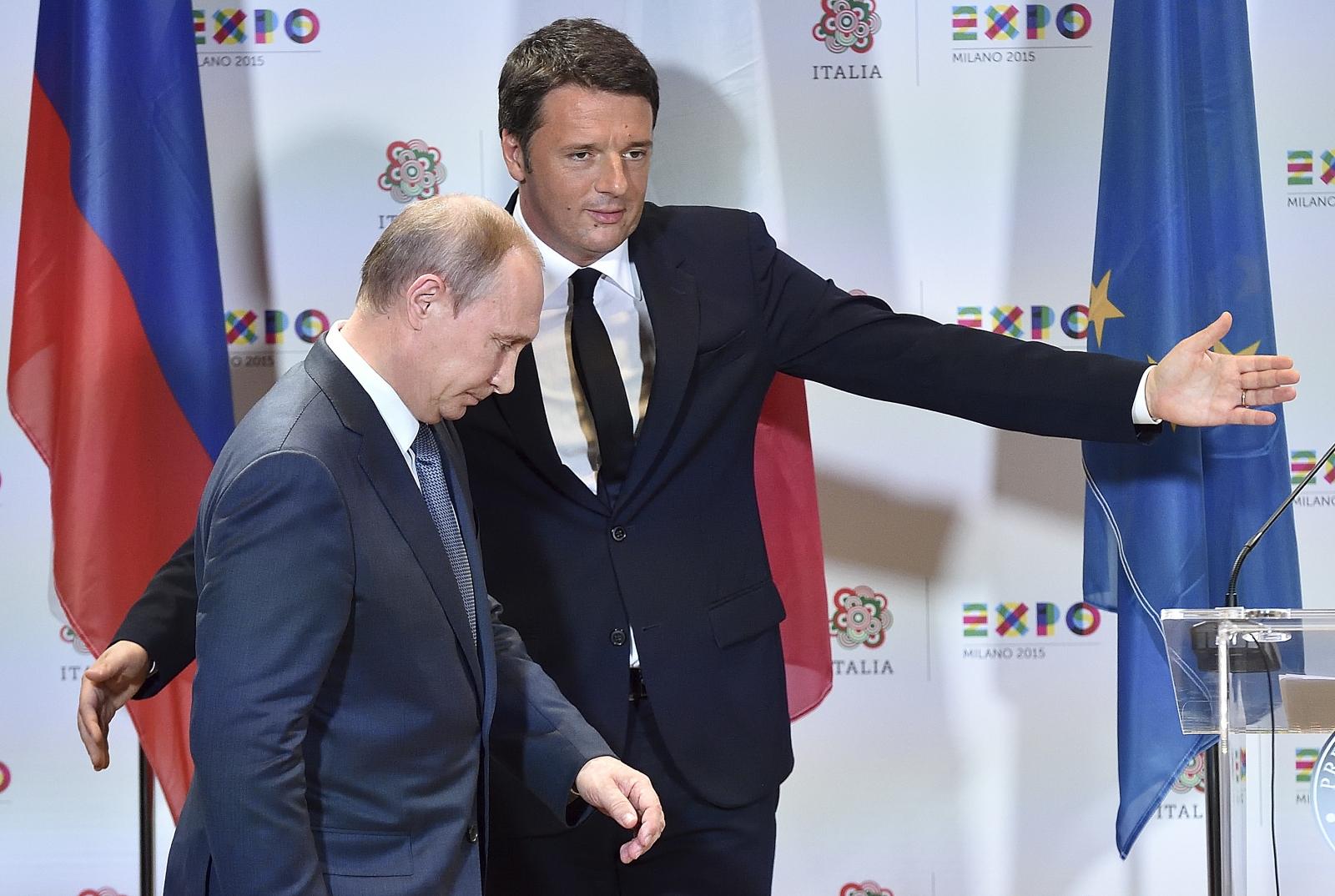 Putin Renzi italy