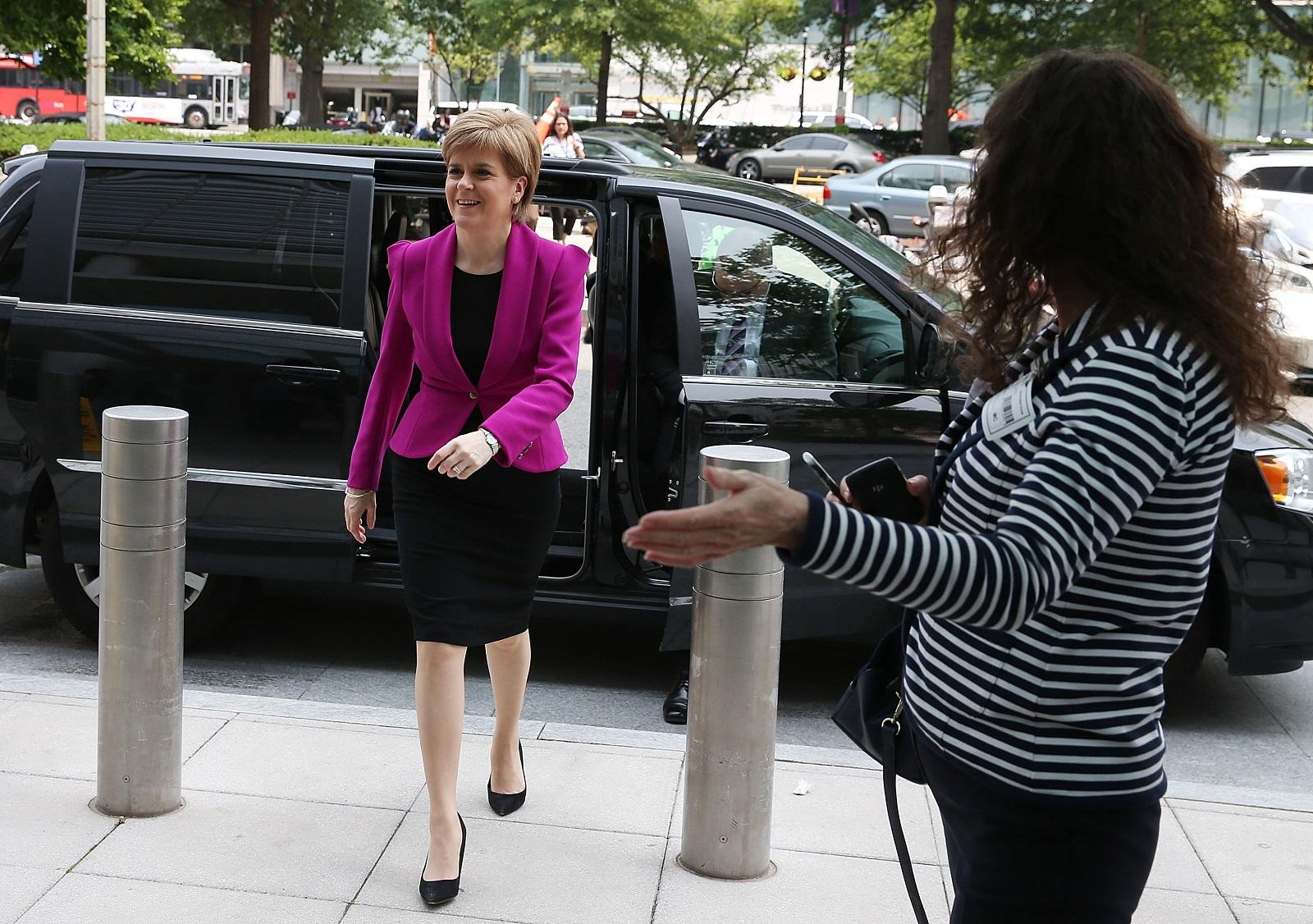 Nicola Sturgeon in Washington, DC