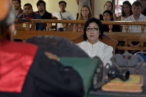 Julaikah Ellis being sentenced in court
