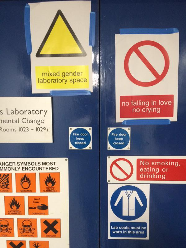 New signage for lab