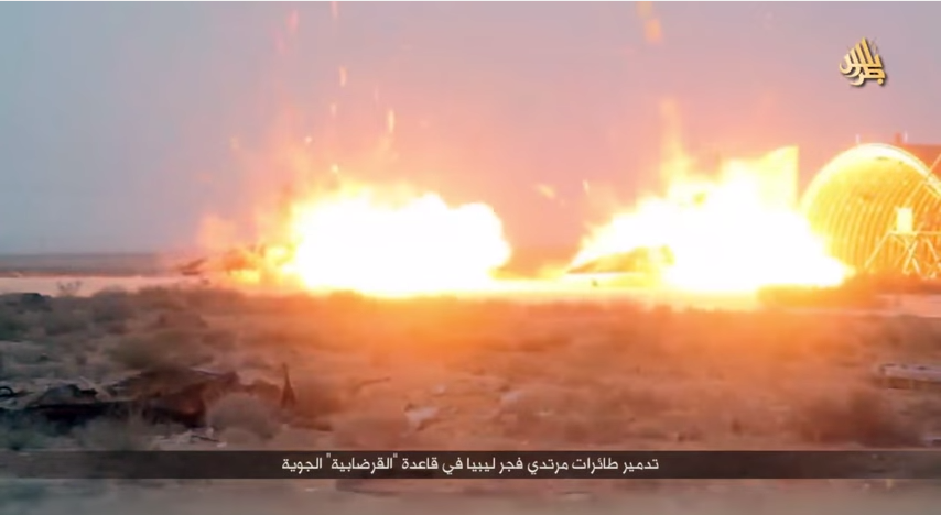 Islamic State destroys two Libya planes