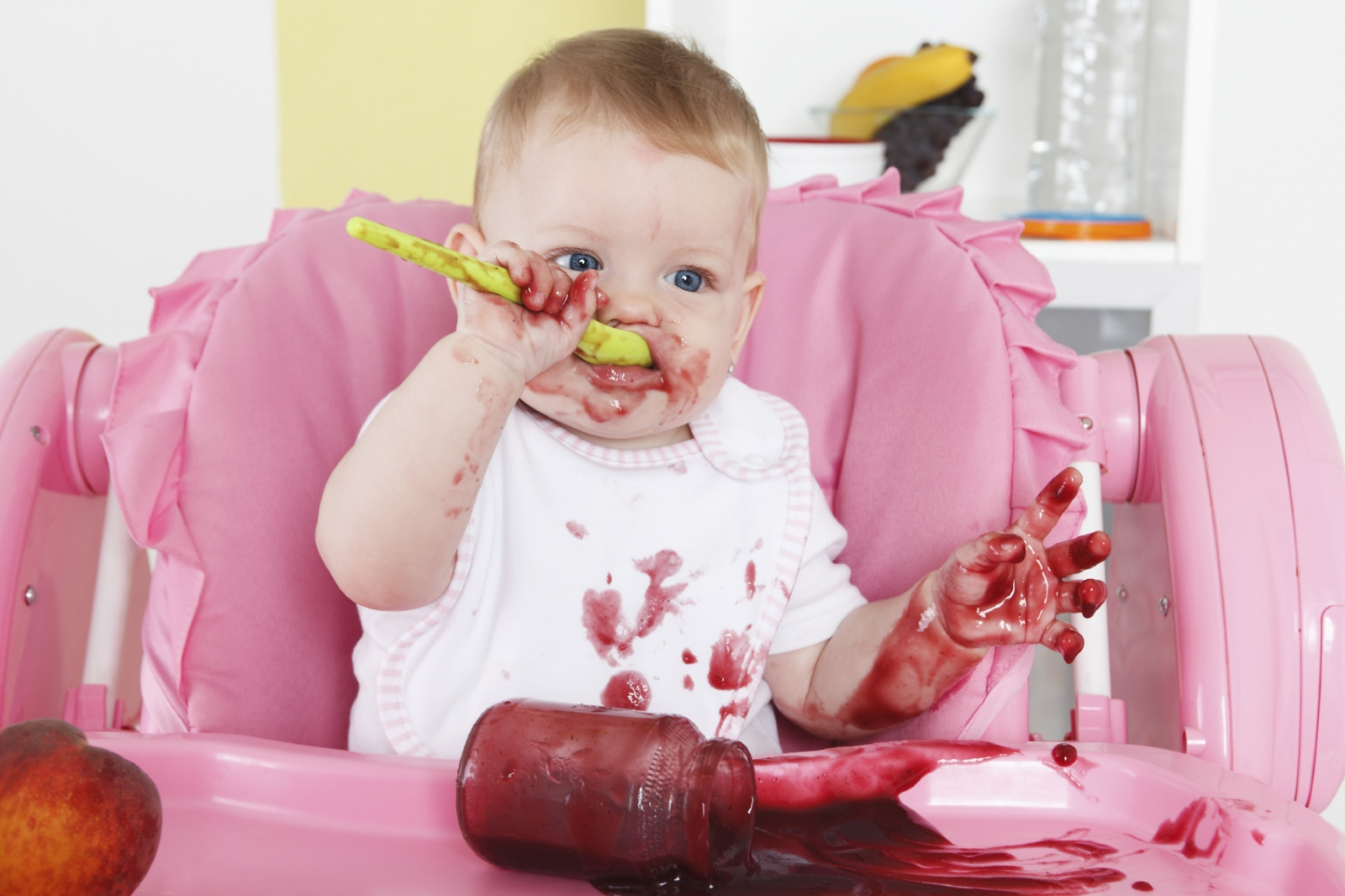 Baby eating messy