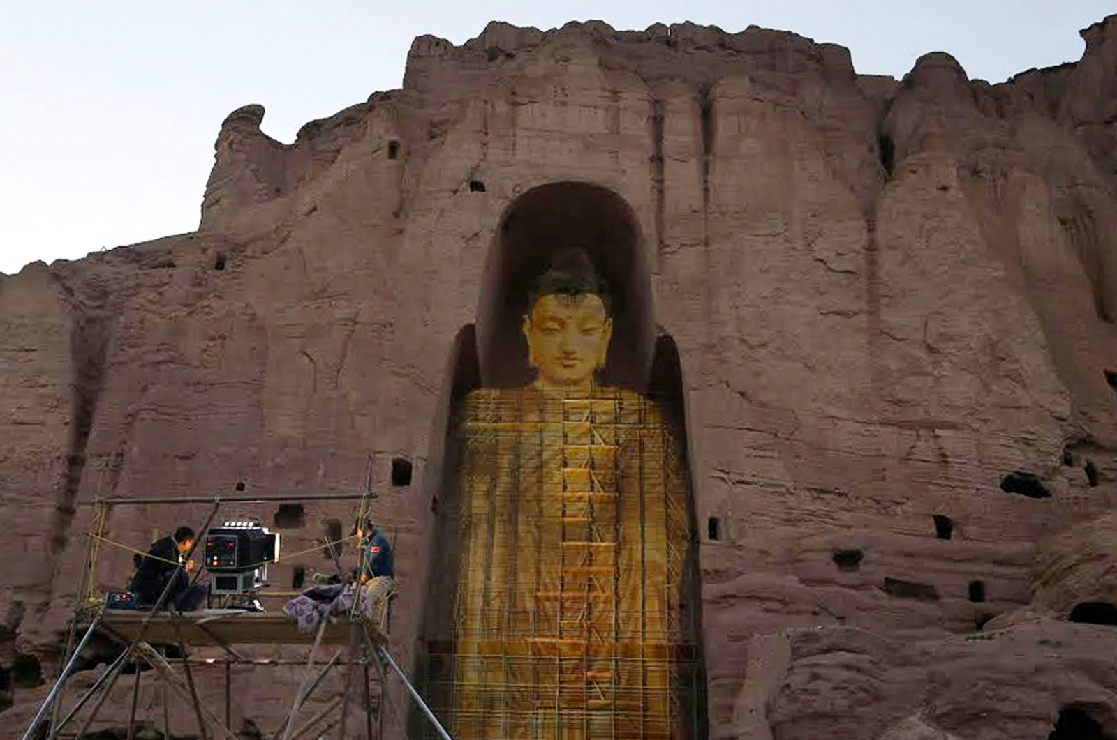 Bamiyan Buddhas recreated using laser 3D projections
