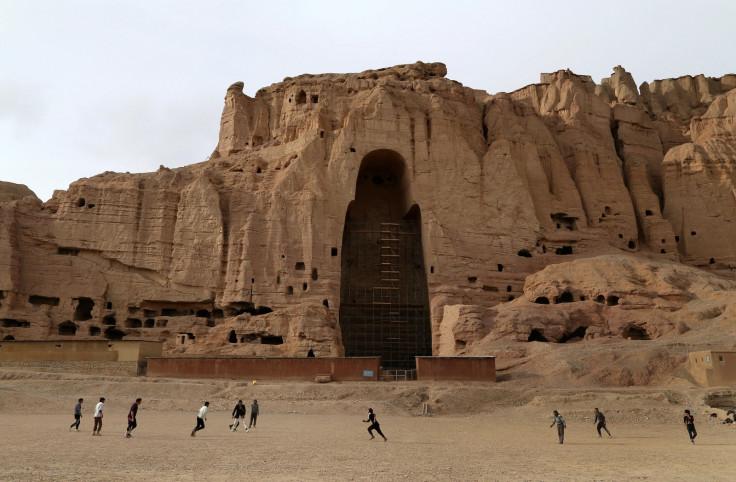 A cavity remains where once Buddhas stood