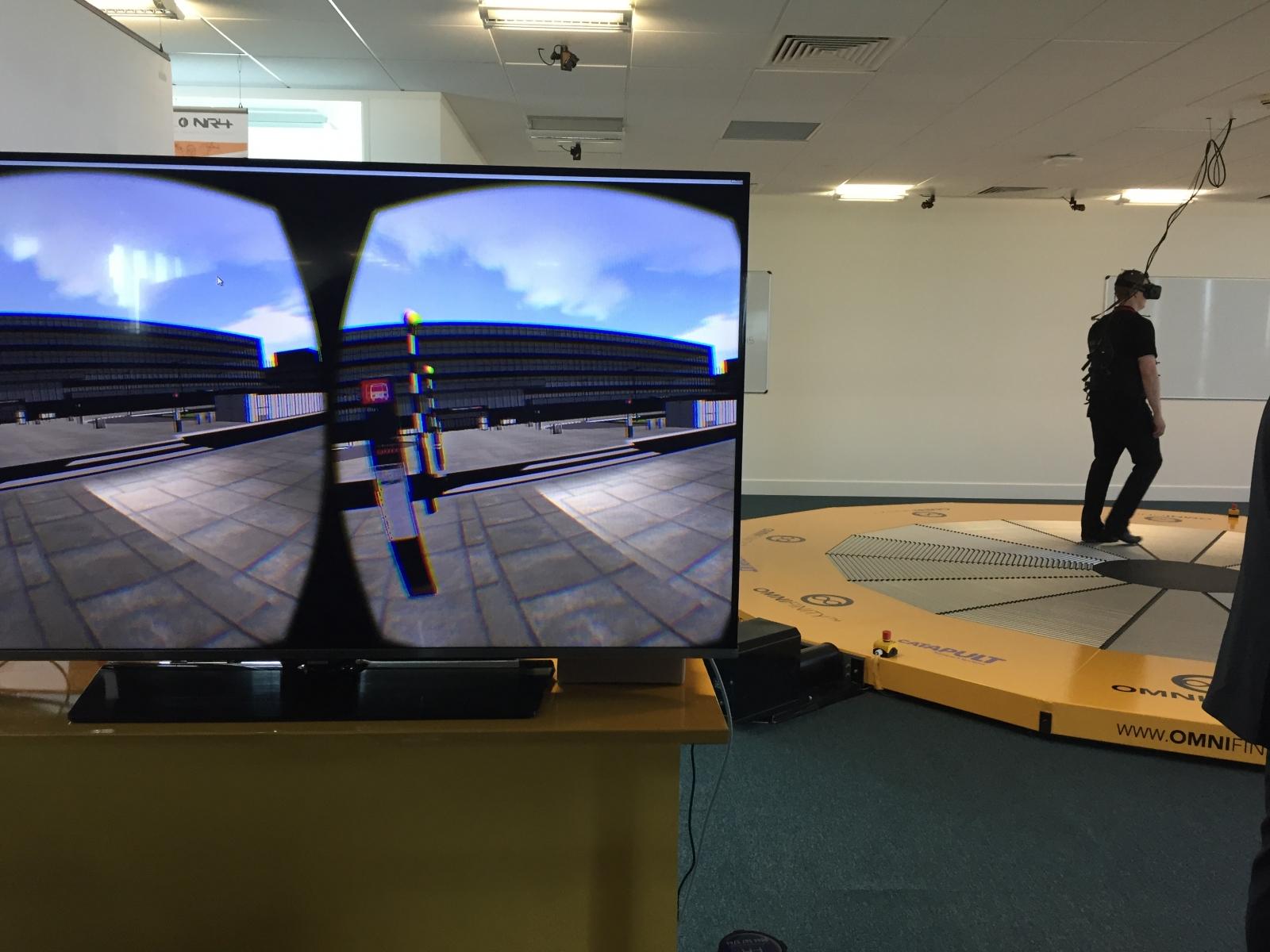 Omnifinity Omnideck VR oculus rift