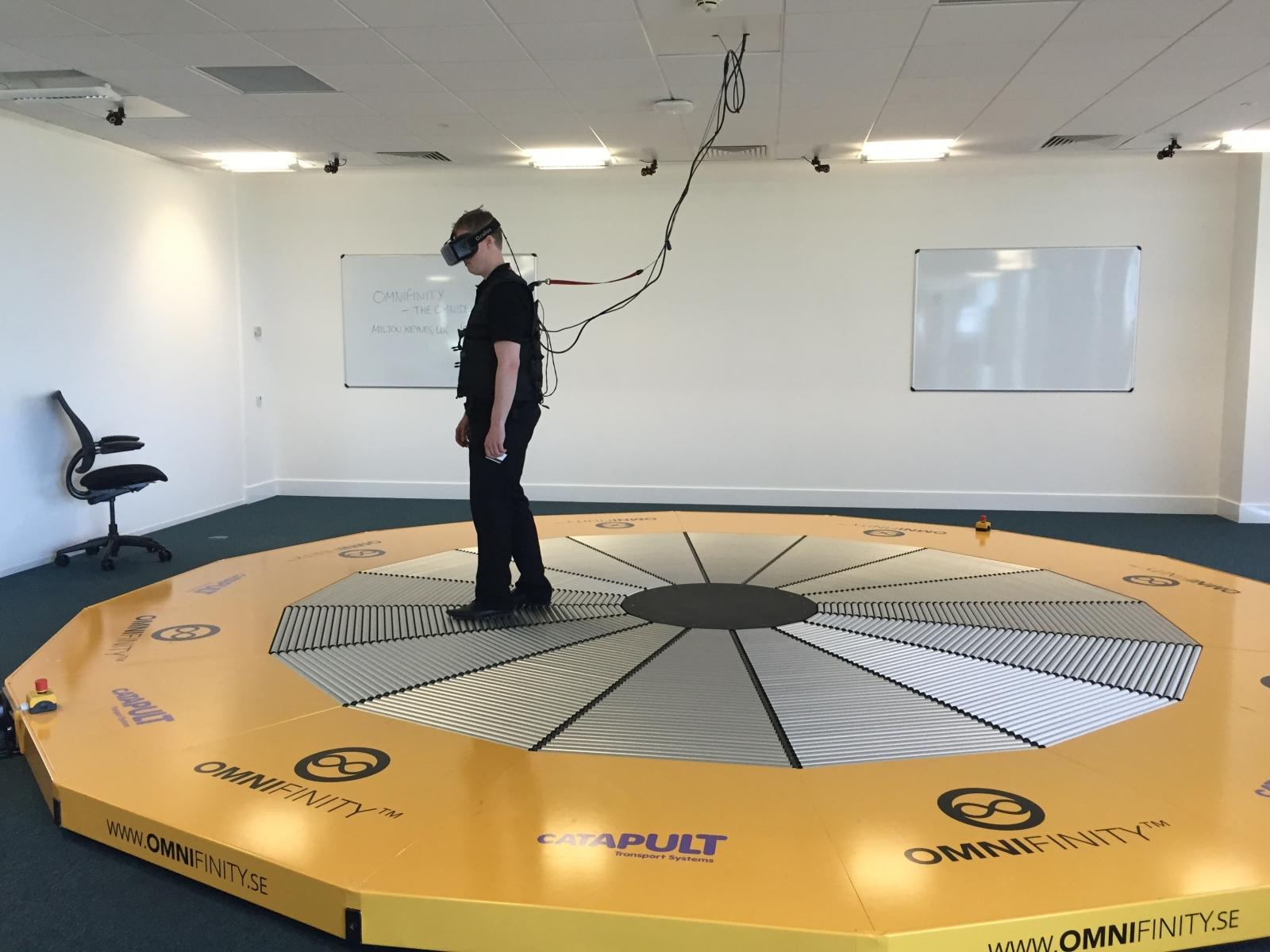 Omnideck oculus rift vr simulation