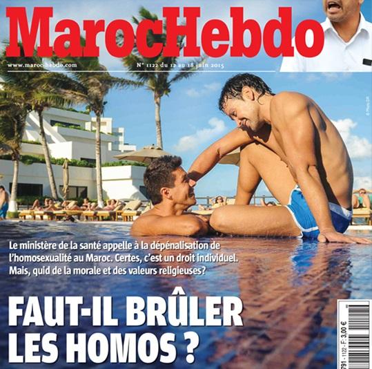 Maroc Hebdo anti-gay cover