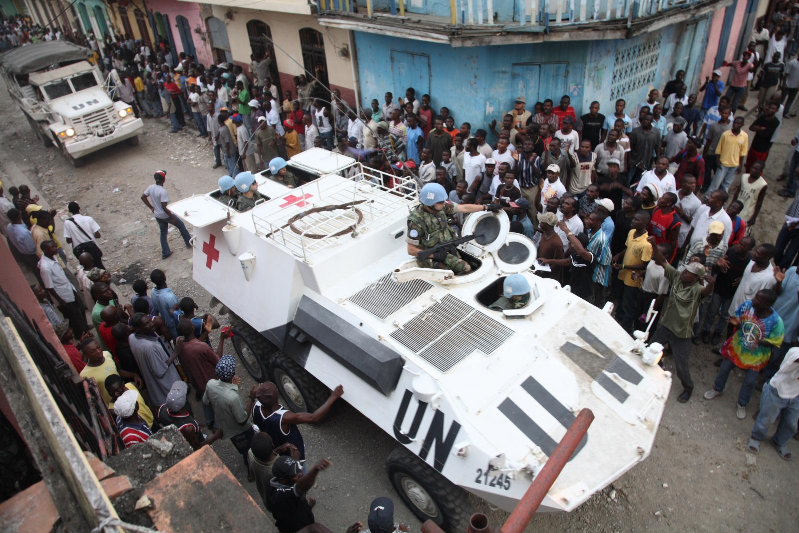 UN peacekeepers in Haiti in 2008
