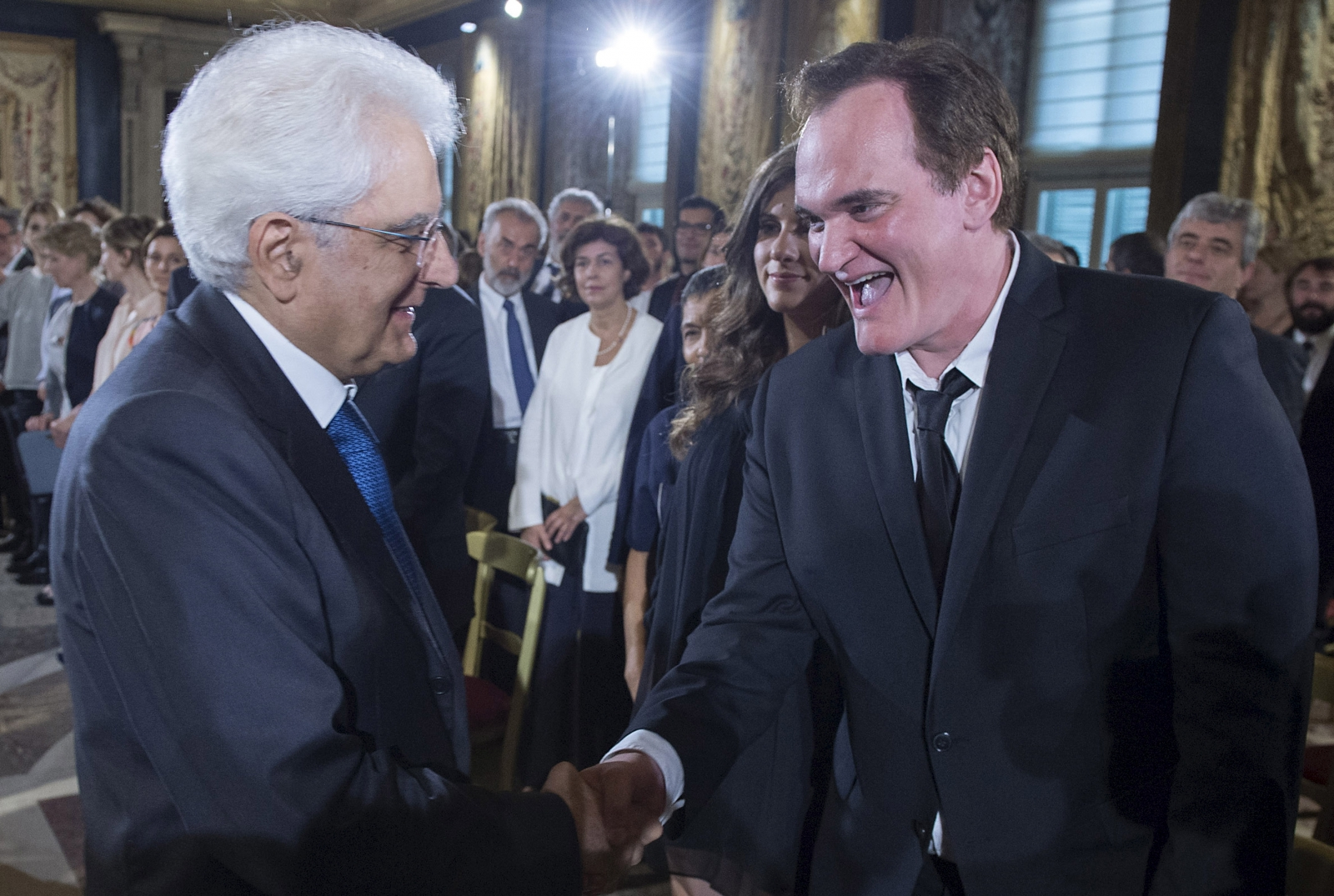Tarantino Mattarella Rome David Donatello