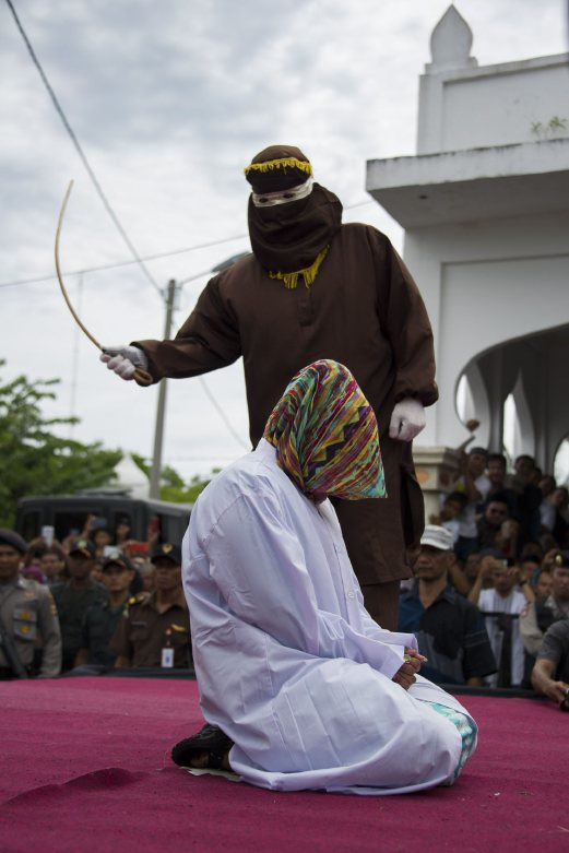 Public caning in Aceh