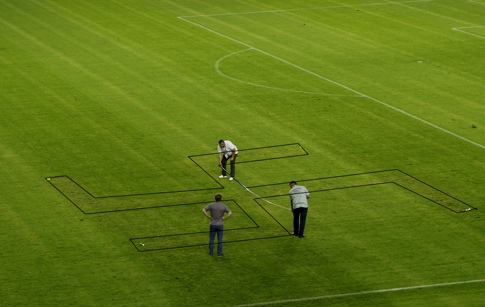 Croatia vs Italy swastika marked pitch
