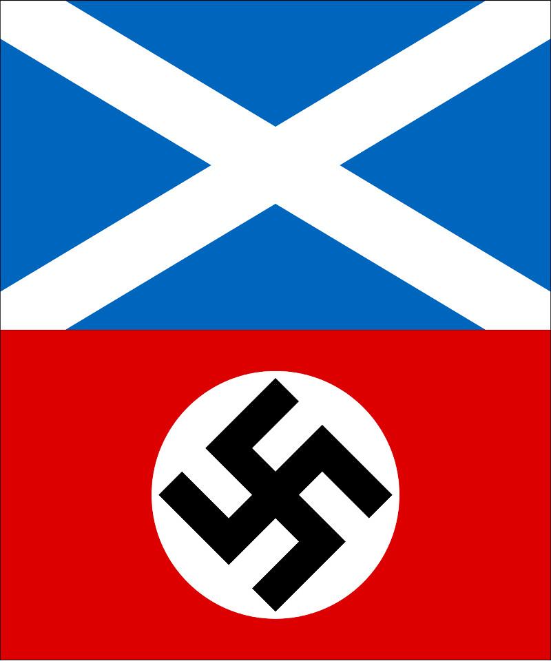 Scotland saltire and Nazi flag