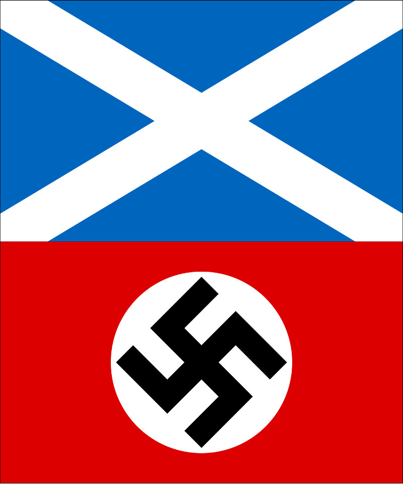 Scotland saltire and Nazi flag