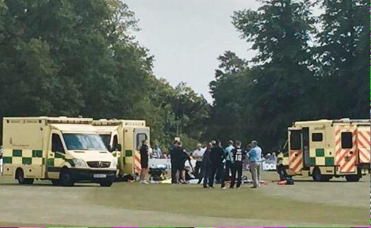 Surrey head collision
