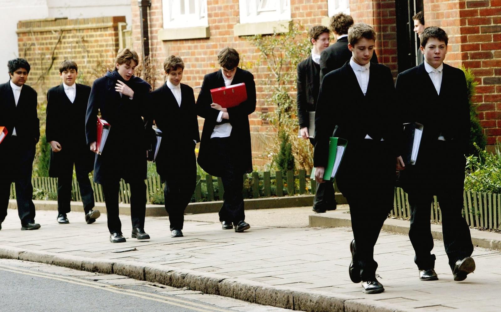 Eton college pupils