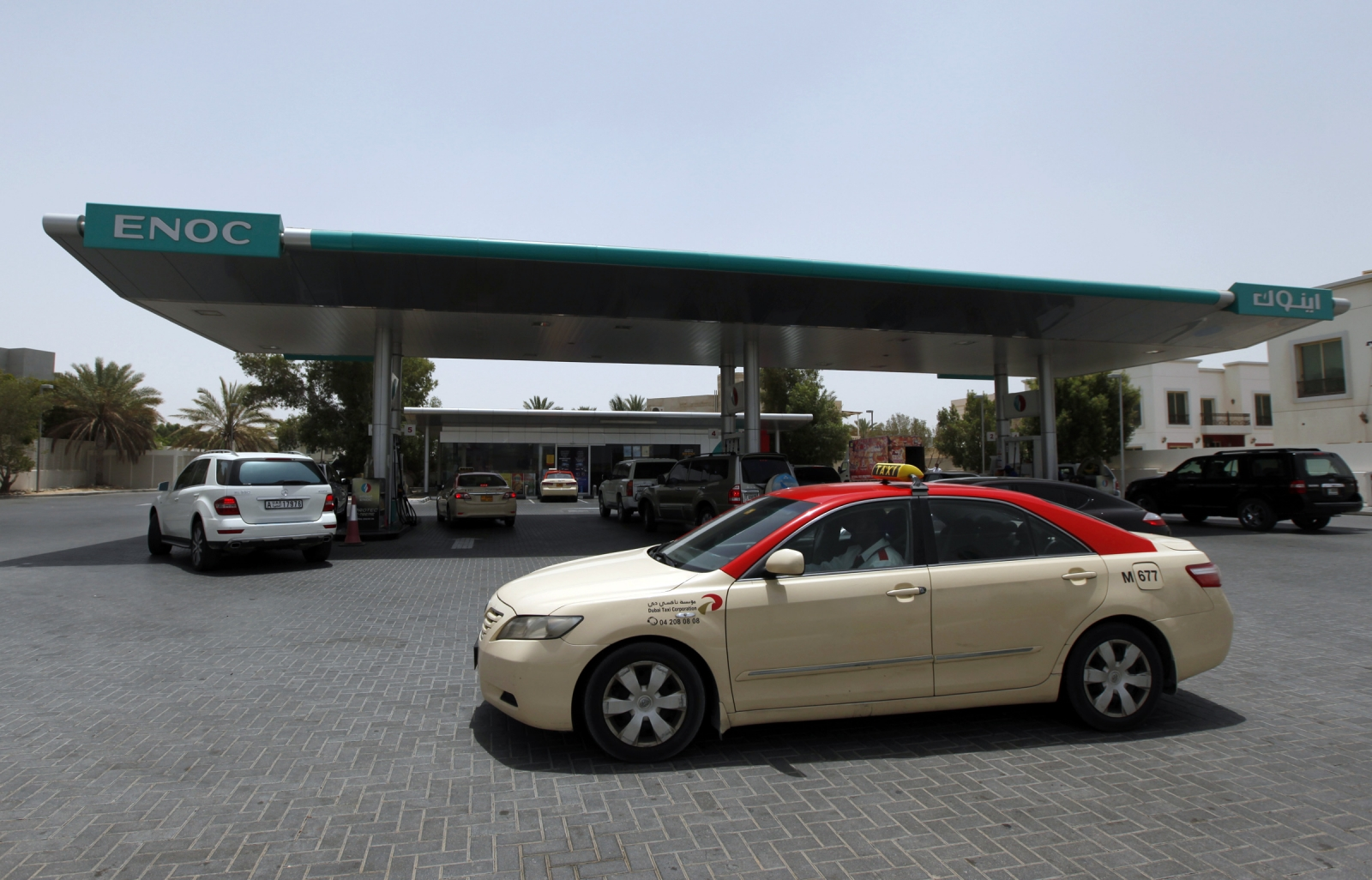 Enoc fuel station in Dubai